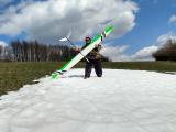 Luděk a sneh na Ostrom vrchu